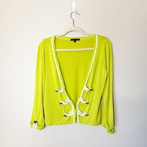 Luca Couture lime green cardigan